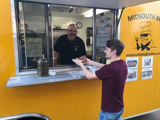 MidSouth BBQ catering Covington TN Tipton County Yellow Trailer Brian Dickey PitMaster good