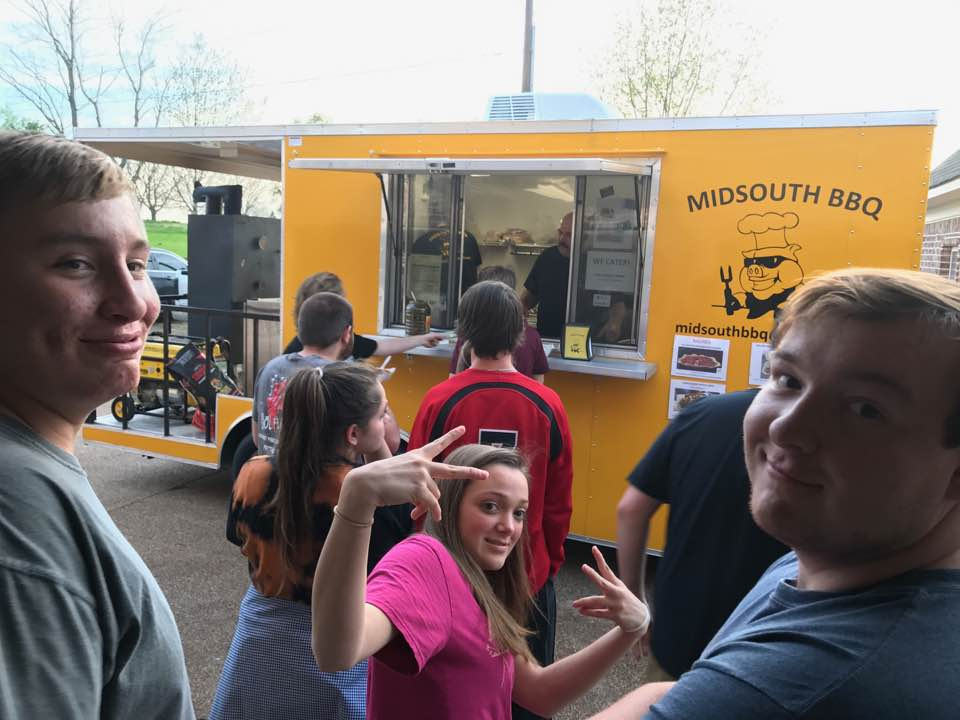 MidSouth BBQ catering Covington TN Tipton County Yellow Trailer
