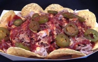 Pulled Pork BBQ Nachos with Cheese Midsouth BBQ Covington TN Tipton County