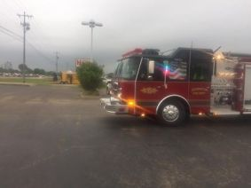 Midsouth BBQ Covington TN Yellow Food Trailer Firetruck Visits