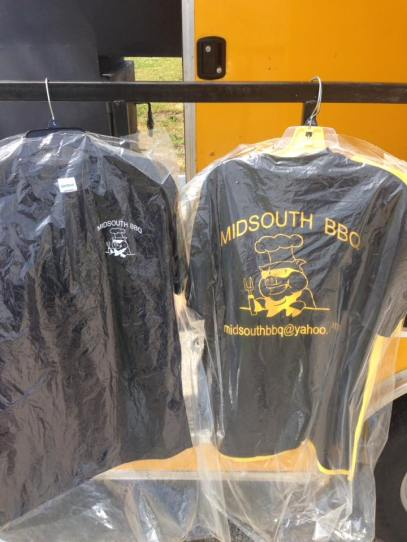 Tshirts for Sale Midsouth BBQ Food Yellow Trailer Covington Tn Tipton County