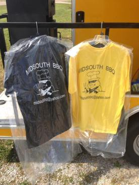 T=Shirts for Sale Midsouth BBQ Food Yellow Trailer Covington Tn Tipton County