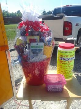 Midsouth BBQ 4th of July Drawing Basket Bucket