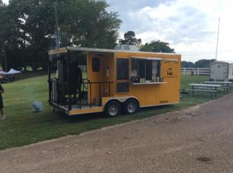 Midsouth BBQ Covington World's Oldest BBQ Festival Yellow Trailer June Covington TN Cobb Parr Park