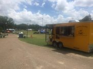 Midsouth BBQ Covington World's Oldest BBQ Festival Yellow Trailer June Covington TN Cobb Parr