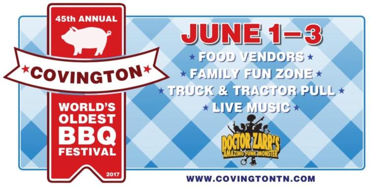 Midsouth BBQ Covington World's Oldest BBQ Festival Yellow Trailer June TN