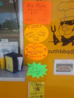MidSouth BBQ specials Yellow Trailer Tipton County